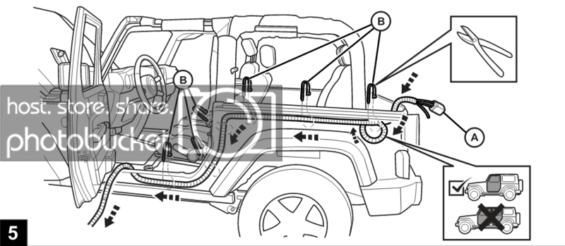 How to Install a Hardtop Wiring Harness on a Jeep Wrangler ... Jeep Jk Hardtop Wiring Harness on jeep jk hardtop cover, jeep jk hardtop hardware, jeep jk hardtop glass, jeep jk hardtop seals,